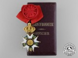 A French Order of the Legion of Honour, Officer, 4th Class, 2nd Empire (1852-1870) with Cased