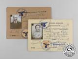 A Pair of Deutsche Reichsbahn-Gesellschaft ID Cards