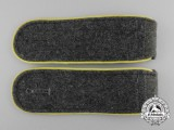 A Mint Pair of Wehrmacht Signals Enlisted Man's Shoulder Boards