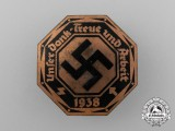"A 1938 ""Our Appreciation, Loyalty, and labour"" Badge"