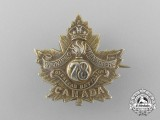 "A First War 78th Infantry Battalion ""Winnipeg Grenadiers"" Sweetheart Badge"