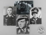 A Lot of Four Post-War Photographs; Signed