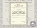 A Croatian Military Order of Trefoil Award Document to SS-Hauptsturmführer Schröder Hermann