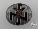 A Rare Czech National Socialist People's Welfare (NSV) Leader's Badge 1938