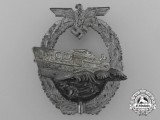 A Kriegsmarine E-Boat Badge by Schwerin, Berlin; Second Version