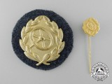 A German Army/Heer, Gold Grade Driver's Badge with Miniature