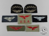 Seven Second War Era RCAF and RAF Insignias