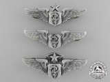 Three American Flight Surgeon Badges