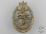 A Mint Bronze Grade Tank Badge by Ferdinand Wiedmann
