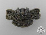 "A First War 194th Infantry Battalion ""Edmonton Highlanders"" Shoulder Title"