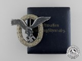 A Luftwaffe Pilot's Badge by C. E. Juncker with Case