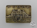 A 1929 NSDAP Coburg Celebration Badge