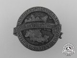 "A 1938 NSDAP Ludwigshafen ""One People, One Reich, One Führer"" District Council Day Badge by . Mannheim"