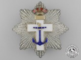 A Spanish Order of Naval Merit; 2nd Class with White Distinction, c. 1875-1925