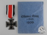 An Iron Cross 1939 Second Class  by Klein & Quenzer A.G. with matching Packet of Issue
