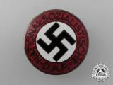 A NSDAP Party Member's Badge by Karl Friedrich Schenkel