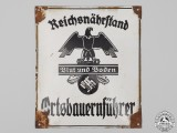 A Large German Sign for the Office of the Reichsnährstand Regional Agricultural Leader