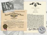 Award Documents Attributed to Medal of Honor Recipient David S. McCampbell USN
