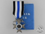 A Bavarian Military Merit Cross; 2nd Class with Case by Gebr. Hemmerle