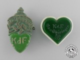 A Grouping of Two KDF Thüringen Event Badges