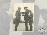 A Fine Second War Croatian Photo of an PTB Officer Receiving the Award