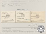 Three Second War Period Croatian Documents Confirming the Award Received
