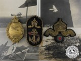 A Fine First War German Naval Land Pilot's Badge, with Insignia & Photographs
