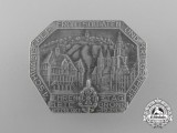 """A 1936 NSKOV """"4th Swabian Front Soldiers and War Casualties Remembrance Day"""" Badge"""
