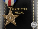 An American Silver Star with Case