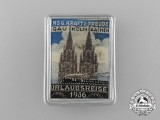 A 1936 Kraft Durch Freude District Cologne/Aachen Holiday Trip Badge