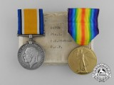 A First War Pair to Private 1st Class Henry Ernest Stevens; Royal Air Force