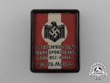 A 1940 Reichsbahn Sports Promotional Badge by Dr. R. Morisse & Co., Wuppertal
