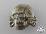 A Second Pattern (1934-1945) Waffen-SS Visor Skull by Zimmermann