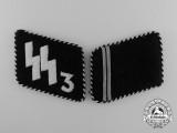 A Set of Waffen-SS Der Führer Regiment Sturmmann Rank Collar Tabs (pre-1940); RZM Tagged