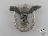 An Early Quality Luftwaffe Pilot's Badge by Gebrüder Wegerhoff of Lüdenscheid