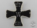 A Scarce First War Embroidered Iron Cross 1st Class