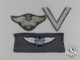 A Lot of Three Luftwaffe Cloth Insignia