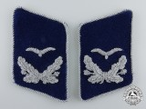 A Set of Luftwaffe Medical Unit Leutnant's Collar Tabs