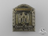 "A Third Reich Period ""Our Motto is Homeland"" Badge"