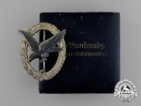A Mint Early War Quality Luftwaffe Air Gunner Badge by Berg & Nolte in its Original Case of Issue