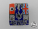 A 1939 Germany-England Cologne Inter-Continental Sports Competition Participant's Badge