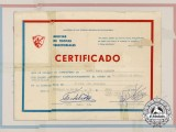 A Cuban Ministry of Revolutionary Armed Forces Certificate Signed by Fidel Castro