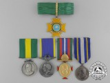 Five Brazilian Medals & Awards