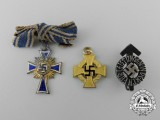A Lot of Three Third Reich Period German Miniature Awards and Decorations