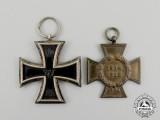An Iron Cross 1914 Second Class with a Non-Combatant Hindenburg Cross