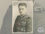 """A Period Colourized Photo of SS Unterscharführer Felix Wüster, SS Regiment """"Westland"""""""