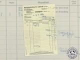 A Luftwaffe Sales Department Pilot Badge Delivery Notice