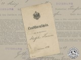 A 1918 Prussian Imperial Landsturm Document & Discharge Paper
