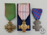 A Lot of Three French Medals