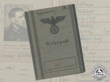 A Wehrpaß to Obergefreiter Lausmann; France, Romania, Bulgaria, Russia WIA